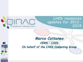 LHCb resources updates for 2012-2015