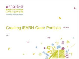 Creating  iEARN - Qatar Portfolio
