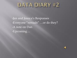 Data diary #2