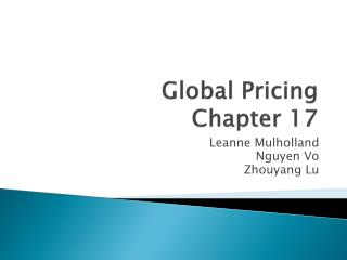 Global Pricing Chapter 17