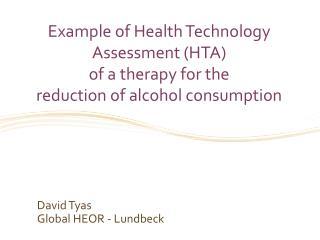 David  Tyas Global HEOR - Lundbeck