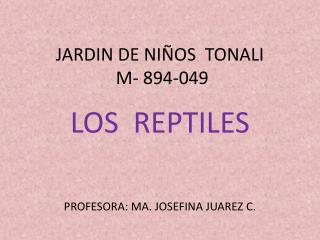 JARDIN DE NIÑOS  TONALI   M- 894-049