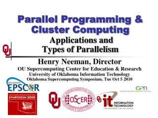 Parallel Programming & Cluster Computing  Applications and Types of Parallelism