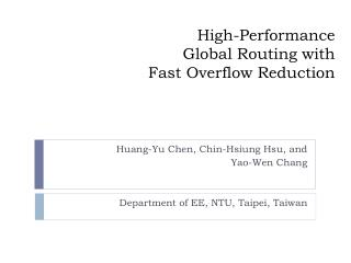 High-Performance  Global Routing  with Fast Overflow Reduction