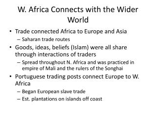 W. Africa Connects with the Wider World