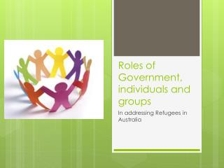 Roles of Government, individuals and groups