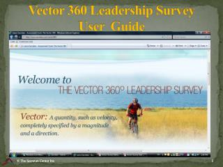 Vector 360 Leadership Survey User   Guide