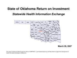 State of Oklahoma Return on Investment Statewide Health Information Exchange