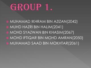 Group 1.