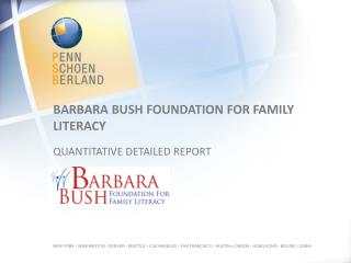 Barbara Bush  Foundation for family literacy  quantitative detailed report