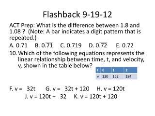 Flashback 9-19-12