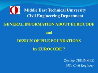 Zeynep ÇEKİNMEZ MSc Civil Engineer