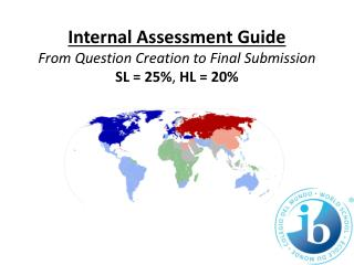 Internal Assessment Guide From Question Creation to Final Submission SL = 25% ,  HL = 20 %