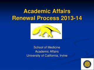 Academic Affairs Renewal Process 2013-14