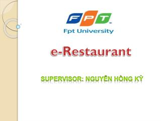 e-Restaurant