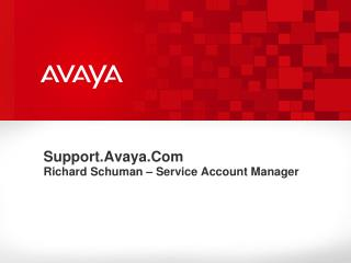 Support.Avaya.Com Richard Schuman – Service Account Manager
