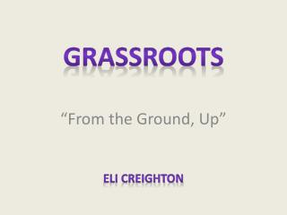"""From the Ground, Up"""