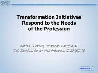 Transformation Initiatives Respond to the Needs of the Profession