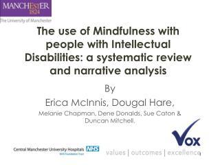 By  Erica McInnis,  Dougal Hare,  Melanie Chapman, Dene  Donalds , Sue  Caton  & Duncan Mitchell.