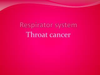 R espirator system