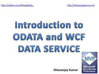 Introduction to ODATA and WCF  DATA SERVICE