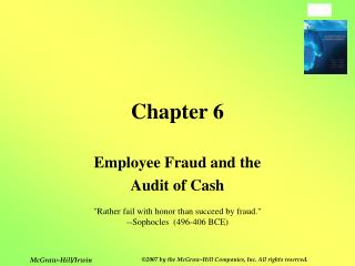 Employee Fraud and the Audit of Cash