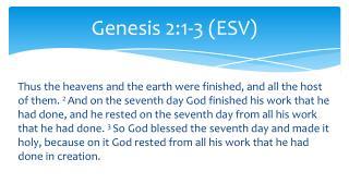 Genesis 2:1-3 (ESV)
