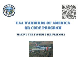 EAA Warbirds of America QR Code Program