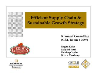 Efficient Supply Chain & Sustainable Growth Strategy