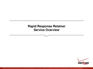 Rapid Response Retainer Service Overview