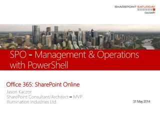 SPO - Management & Operations with PowerShell