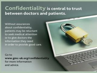 Confidentiality new guidance from the GMC