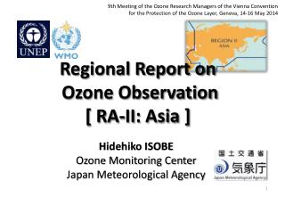 Regional Report on  Ozone Observation  [ RA-II: Asia ]