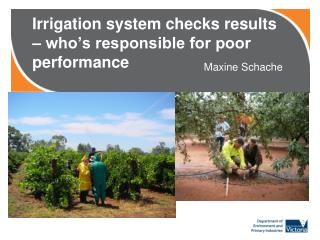 Irrigation system checks results – who's responsible for poor performance