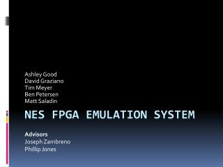 NES FPGA Emulation System