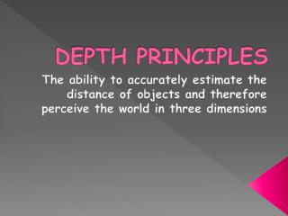 DEPTH PRINCIPLES