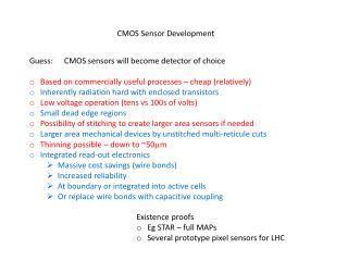CMOS Sensor Development