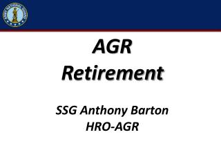 AGR  Retirement SSG Anthony Barton HRO-AGR