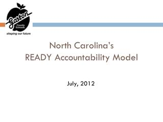 North Carolina's  READY Accountability Model