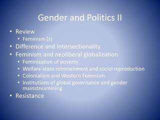 Gender and  Politics II
