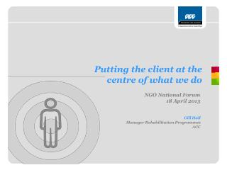 Putting the client at the  centre of what we do