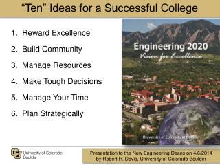 """Ten"" Ideas for a Successful College"