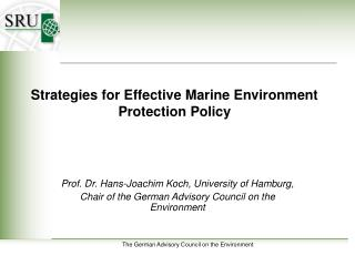 Strategies for Effective Marine Environment Protection Policy