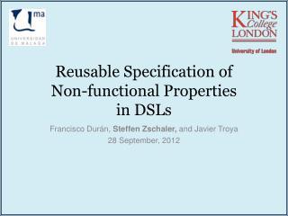Reusable Specification of Non-functional Properties in DSLs