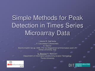 Simple Methods for Peak Detection in Times Series Microarray Data