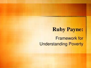 Ruby Payne: