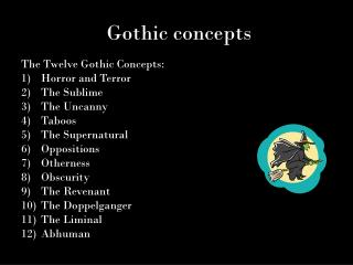 Gothic concepts