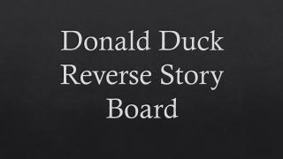 Donald Duck Reverse Story Board