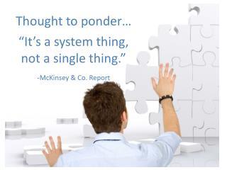 - McKinsey & Co. Report