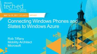 Connecting Windows Phones and Slates to Windows Azure